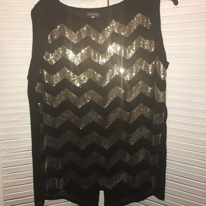 Tops - Sequined tank